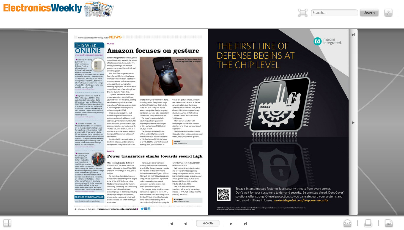 Electronics Weekly Digital Edition