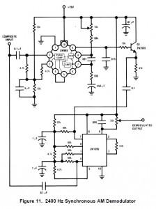 TI LM565 AM decoder