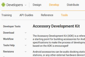 Android Open Accessories Mode Information from Electronics