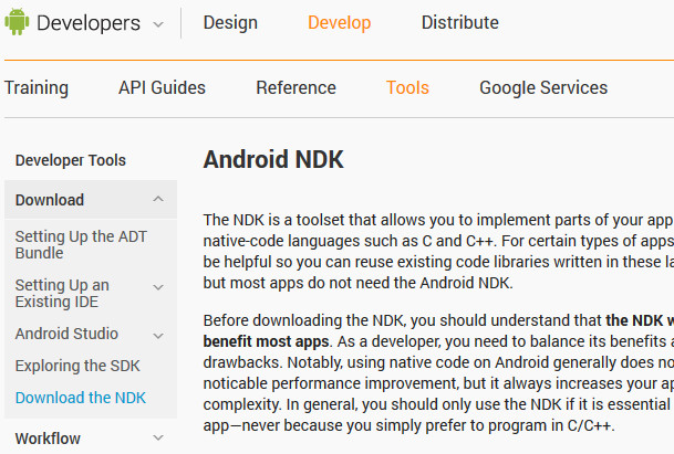 Android Native Development Information from Electronics Weekly