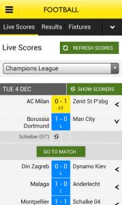BBC Sport Android app