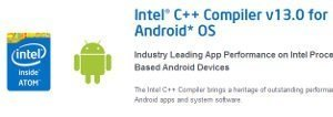 Intel compiler v13 for Android