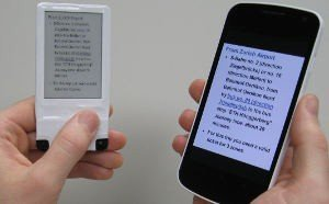 NFC wirelessly powers bistable ePaper