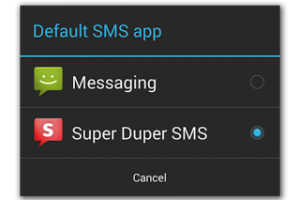 Android KitKat defaultSmsApp
