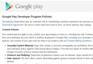Google Play Developer Program Policies