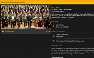 Digital Concert Hall - Simon Rattle