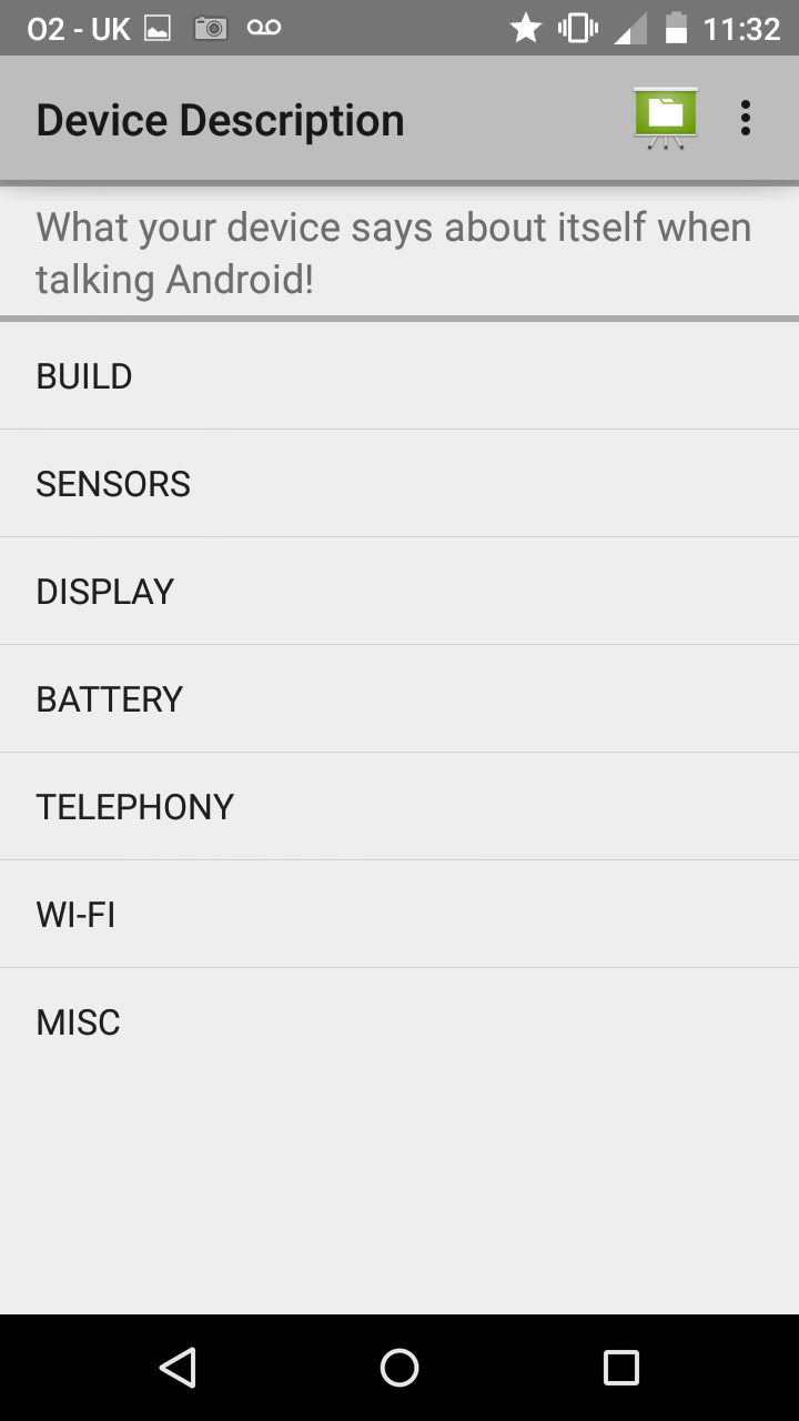 Build your own Android app – #11 Device Description telephony manager