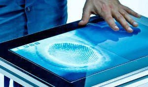 FIBERIO - A TOUCHSCREEN THAT SENSES FINGERPRINTS