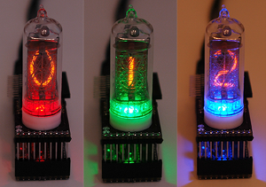 Arduino drives Smart Nixie Tubes with LED highlighting