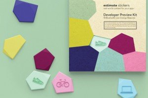 Estimote Bluetooth Smart Beacon stickers