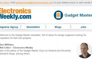Gadget Master newsletter - new look