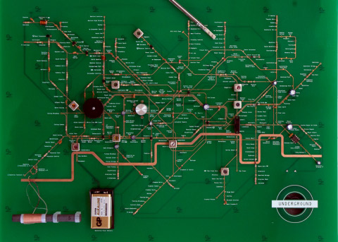 I can\'t believe someone makes... London Underground tube map circuits