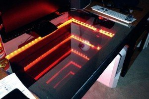 LED infinity mirror desk 1