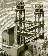 Impossible Objects 39 Escher S Belvedere Tower In 3d