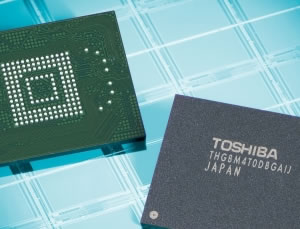 Toshiba starts volume production of fastest, smallest 64G MLC flash next week