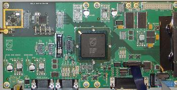 DTV chip is three VLIW processors