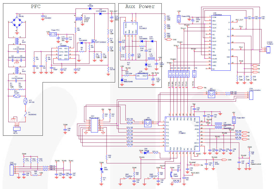 200w Brushless Motor Driver Reference Design Has Pfc