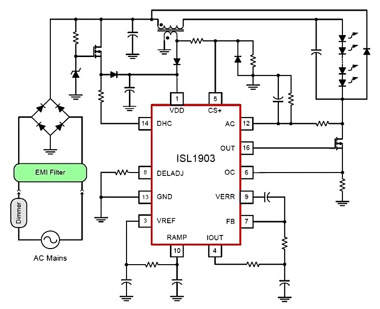 flickering led circuit diagram
