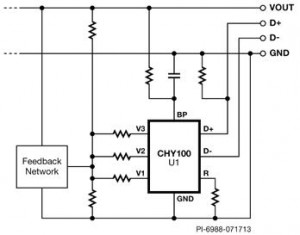 Charger Physical Interface IC for Quick Charge 2.0 - Typical Application Schematic
