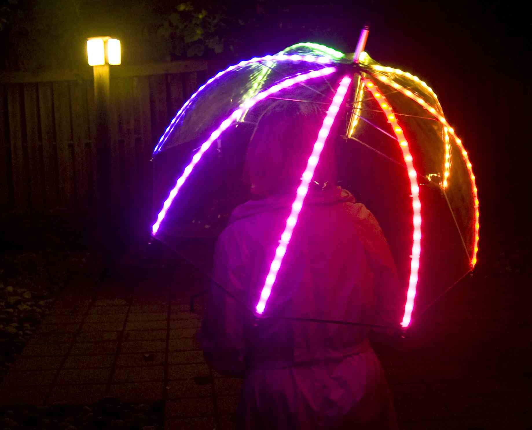 Led Umbrella Wins Wearable Electronics Prize