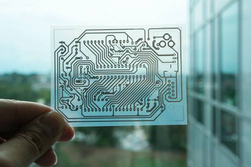 PCBs can be ink-jet printed on a normal printer