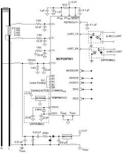 Microchip MCP39F501 circuit