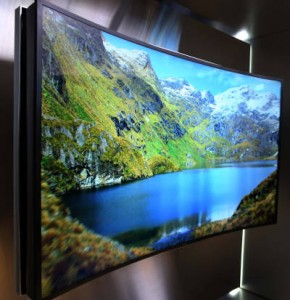 Samsung's 85in flexing TV