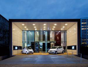 Futuristic home - electric Mercedes