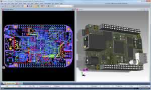3D mechanical kernel integrated int o PCB electrical design tool