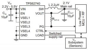 TPS62740 circuit