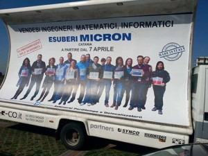 Micron protester truck
