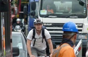 TfL cyclist in traffic