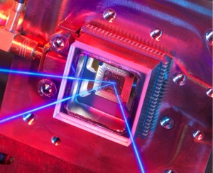 NPL chip-scale ion trap for atomic clocks