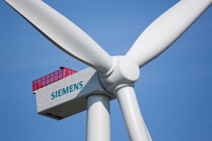 Siemens 4-Megawatt-Windturbine / Protype of the Siemens 4 megawatt wind turbine