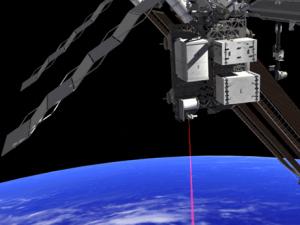 NASA - OPALS instrument firing a laser