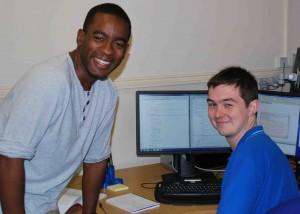 Jason Robinson (left) and Adrian Wheeldon