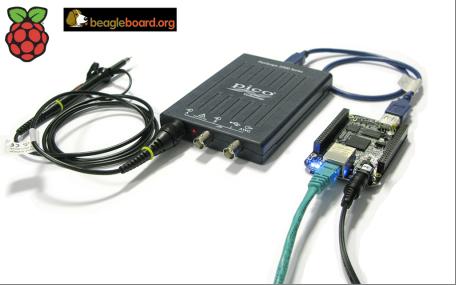 USB scopes work with BeagleBone Black and Raspberry Pi