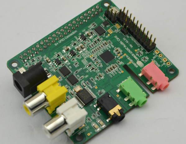 Hi-fi card for Raspberry Pi A and B plus models