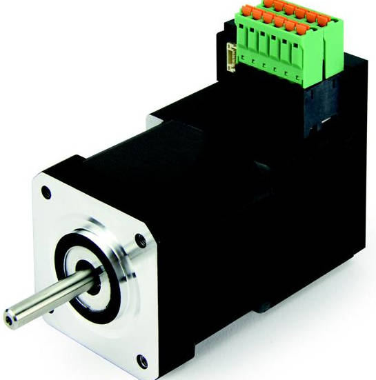 Small motor with integrated controller for Small dc servo motor