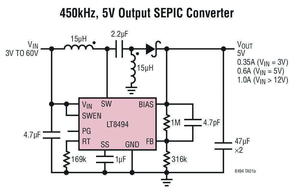 Ltc Adds Sepic Boost Dc Dc Converter