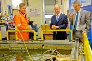 Universities and Science Minister visits Heriot-Watt Robot laboratories
