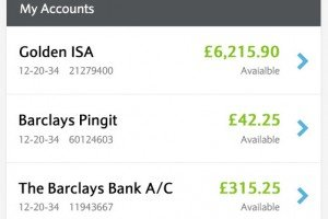 Barclays Bank - example banking app