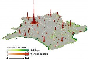 FRA mobility - Mobile phone mapping matches census accuracy