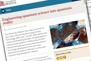 Bristol quantum research