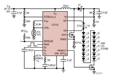 Cut Power With Driver Circuit For High Brightness Leds