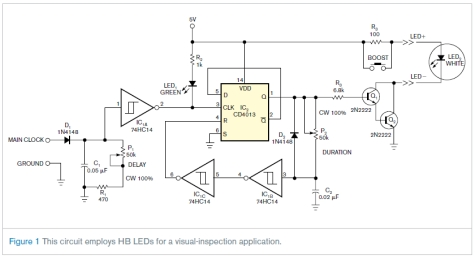 Led Circuit Diagram Led Strobe Has Independent Delay And