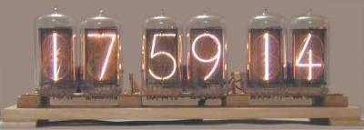 A Nixie tube clock
