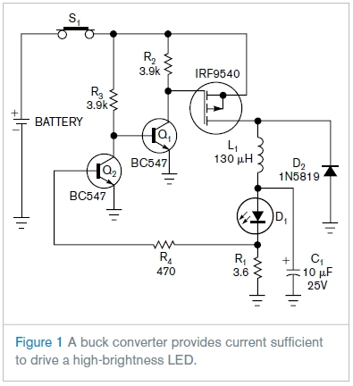 Circuit Schematic Driving High Brightness Led