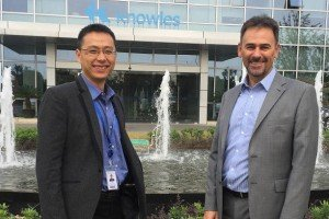 Simon Mao (left) and Chris Noade of Knowles
