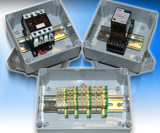 Small IP66 DIN rail junction boxes